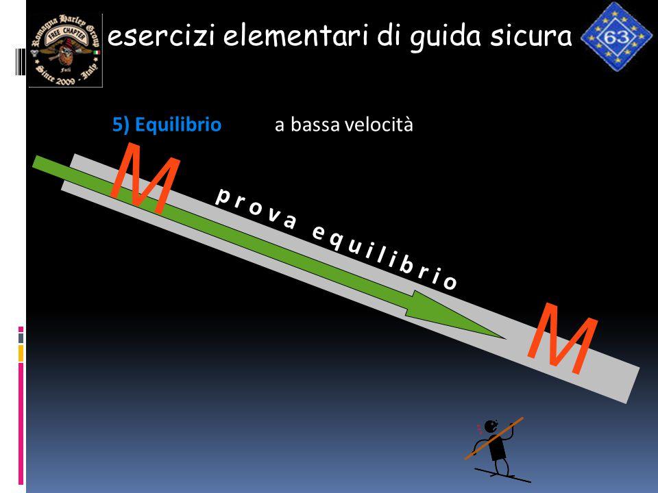 esercizi elementari di guida sicura 5) Equilibrio a bassa velocità p r o v a e q u i l i b r i o Fdg AA GG H … … …. … … … … … … … … … … … … … … … … …