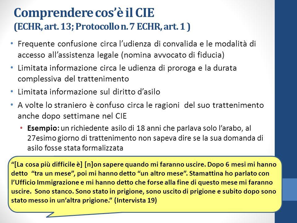 Comprendere cos'è il CIE (ECHR, art. 13; Protocollo n.
