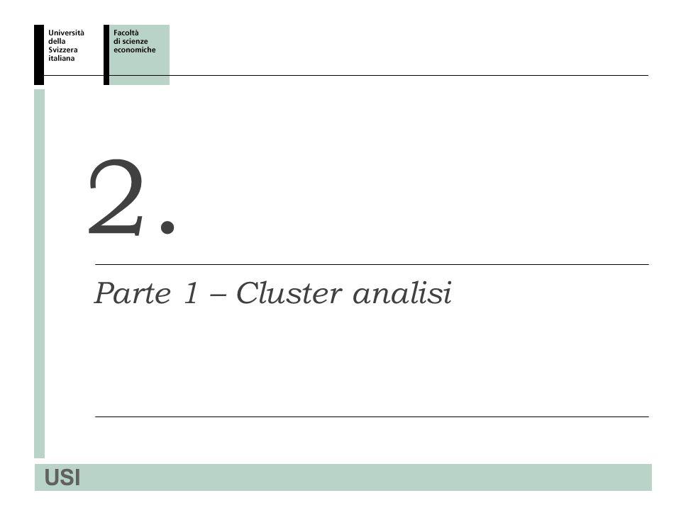 USI 2. Parte 1 – Cluster analisi
