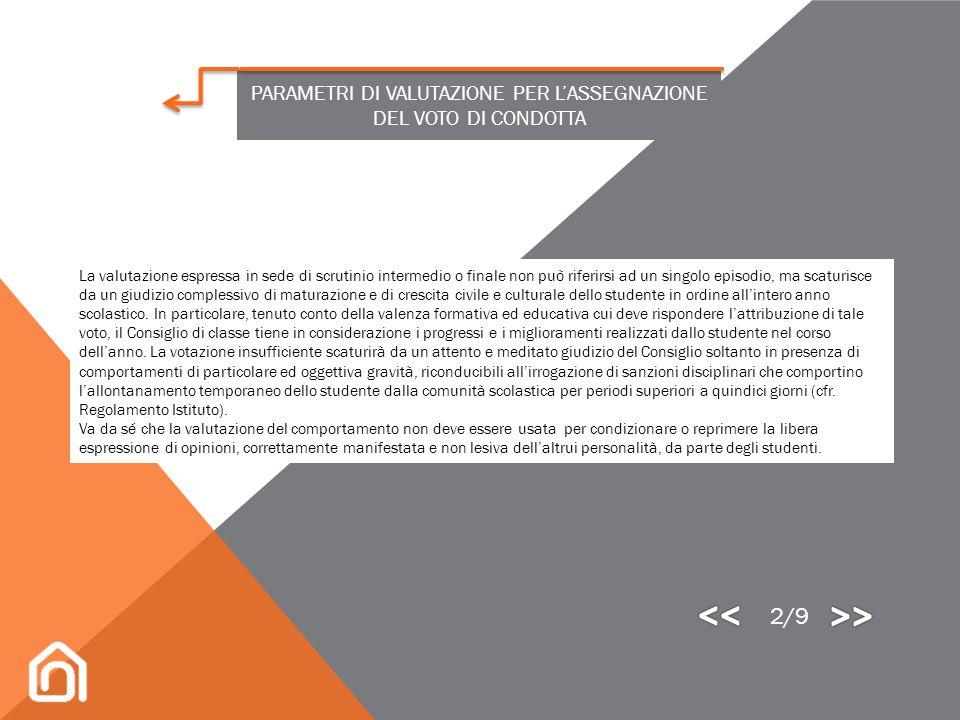 La valutazione del comportamento degli studenti è normata dal D.M. n. 5 del 16 gennaio 2009, decreto che risponde alle seguenti priorità: accertare i
