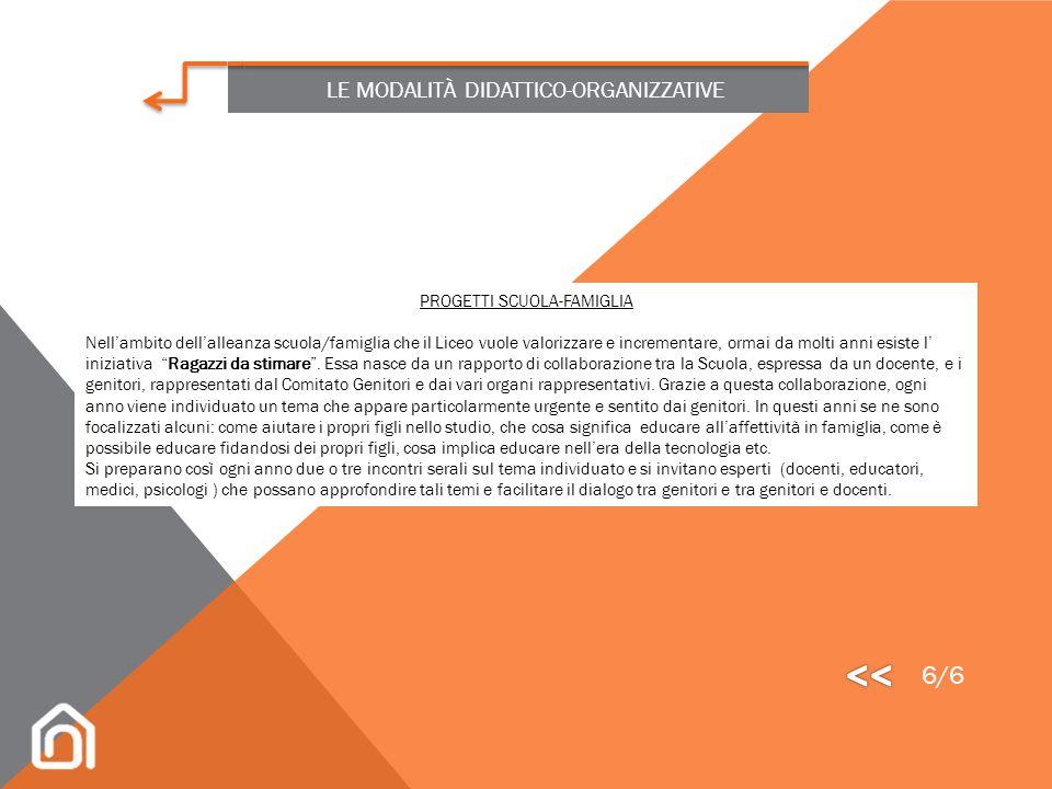 LE MODALITÀ DIDATTICO-ORGANIZZATIVE ATTIVITÀ DI PROMOZIONE DELLA SALUTE Il progetto si articola in una serie di interventi, corsi e servizi rivolti in