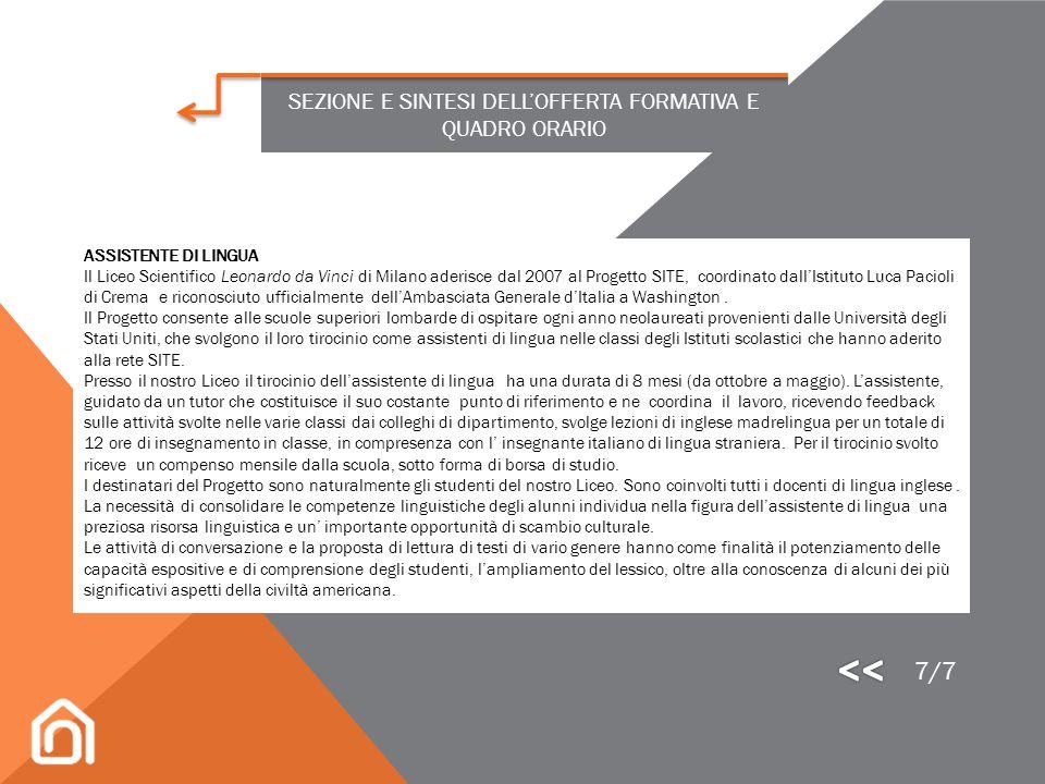 SEZIONE E SINTESI DELL'OFFERTA FORMATIVA E QUADRO ORARIO Per l'anno scolastico 2013 -2014 è stato organizzato nell'ambito del progetto Esabac uno scam