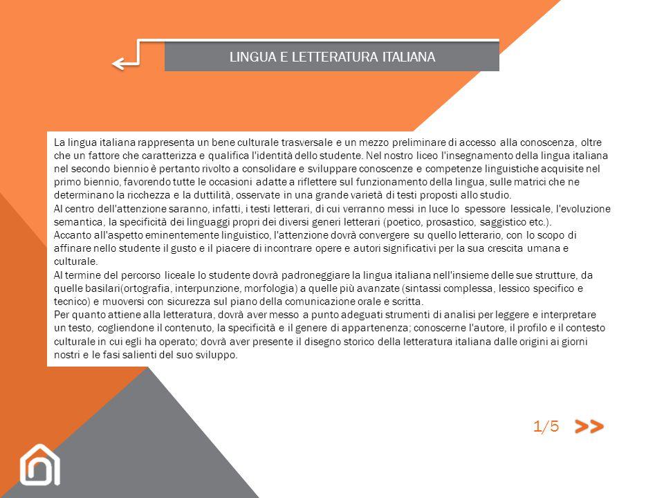 OBIETTIVI E CONTENUTI DELLE SINGOLE DISCIPLINE LINGUA STRANIERA LINGUA E CULTURA LATINA RELIGIONE LINGUA E LETTERATURA ITALIANA FILOSOFIA FISICA MATEM