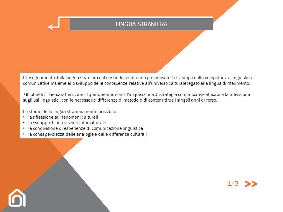 LINGUA STRANIERA TEDESCO INGLESE FRANCESE