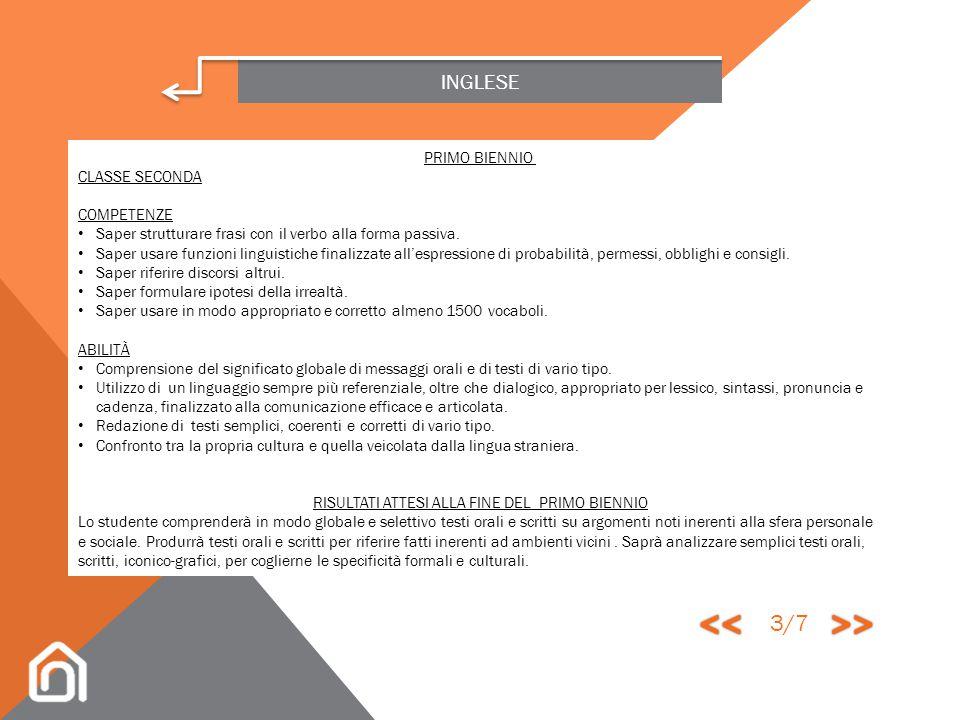 INGLESE PRIMO BIENNIO CLASSE PRIMA ABILITÀ Comprensione del significato globale di un messaggio orale e di un testo scritto strutturato in periodi. Ut