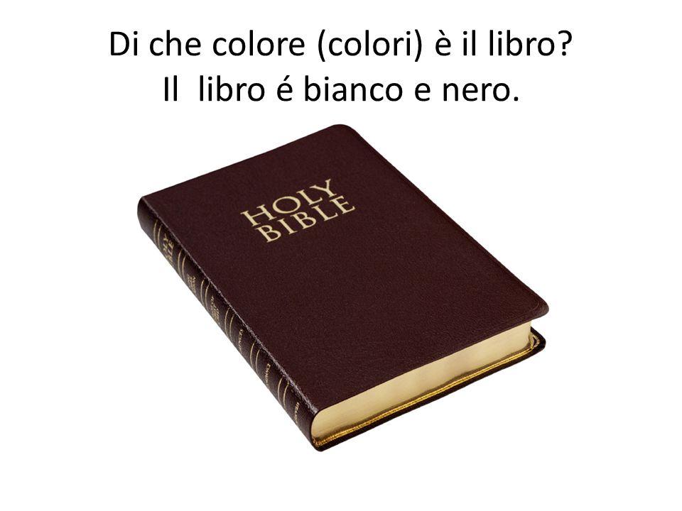 Di che colore (colori) è il libro Il libro é bianco e nero.