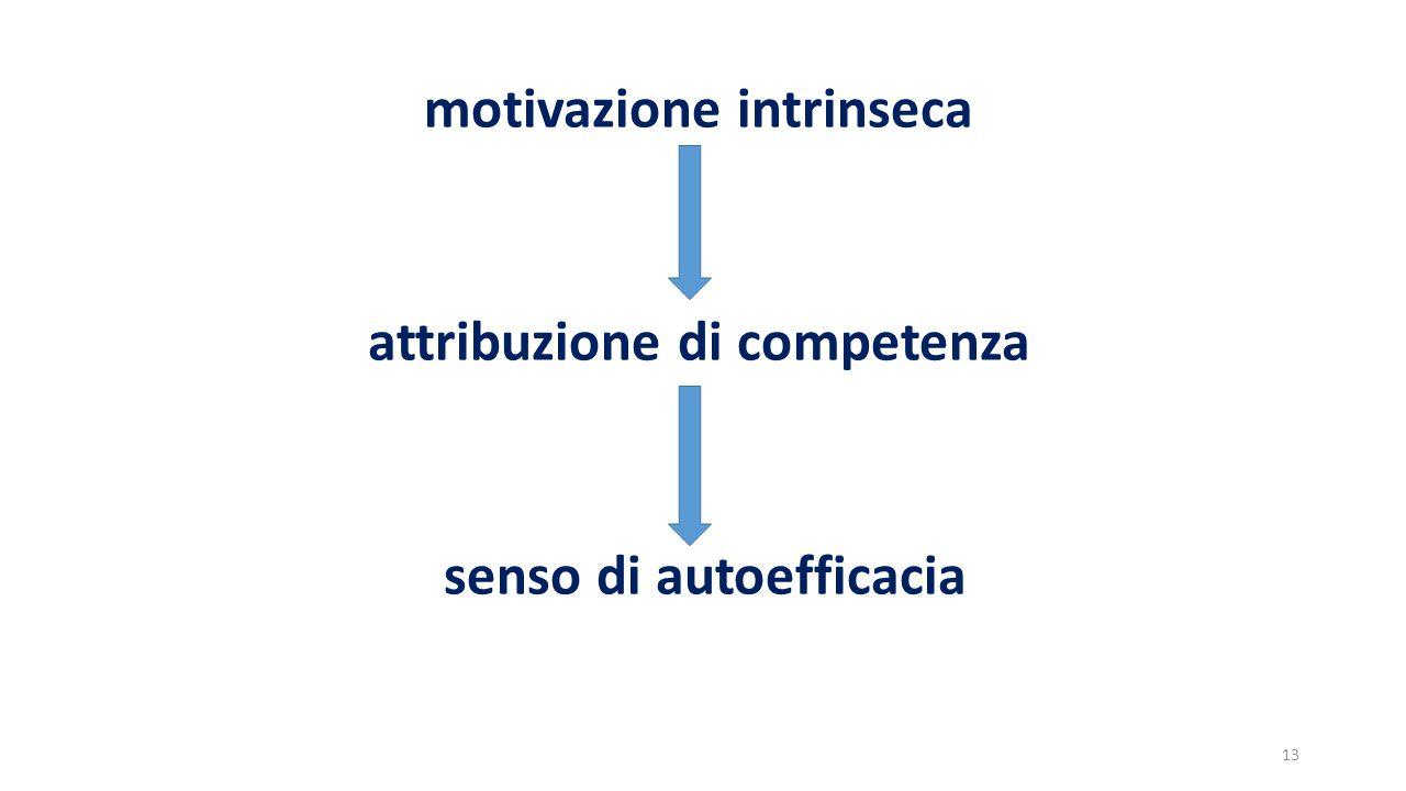 motivazione intrinseca attribuzione di competenza senso di autoefficacia 13