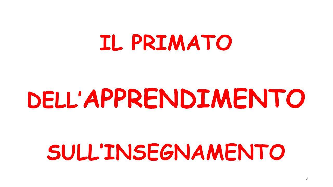 IL PRIMATO DELL' APPRENDIMENTO SULL'INSEGNAMENTO 3