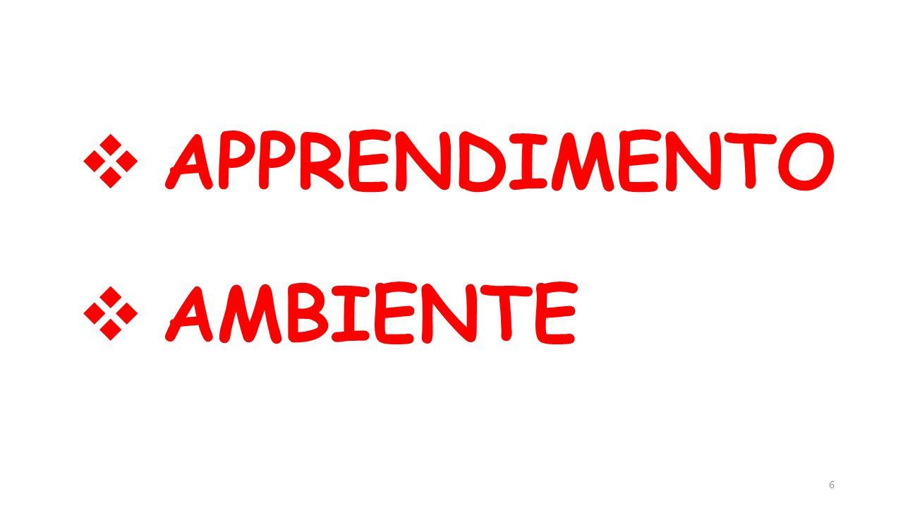  APPRENDIMENTO  AMBIENTE 6