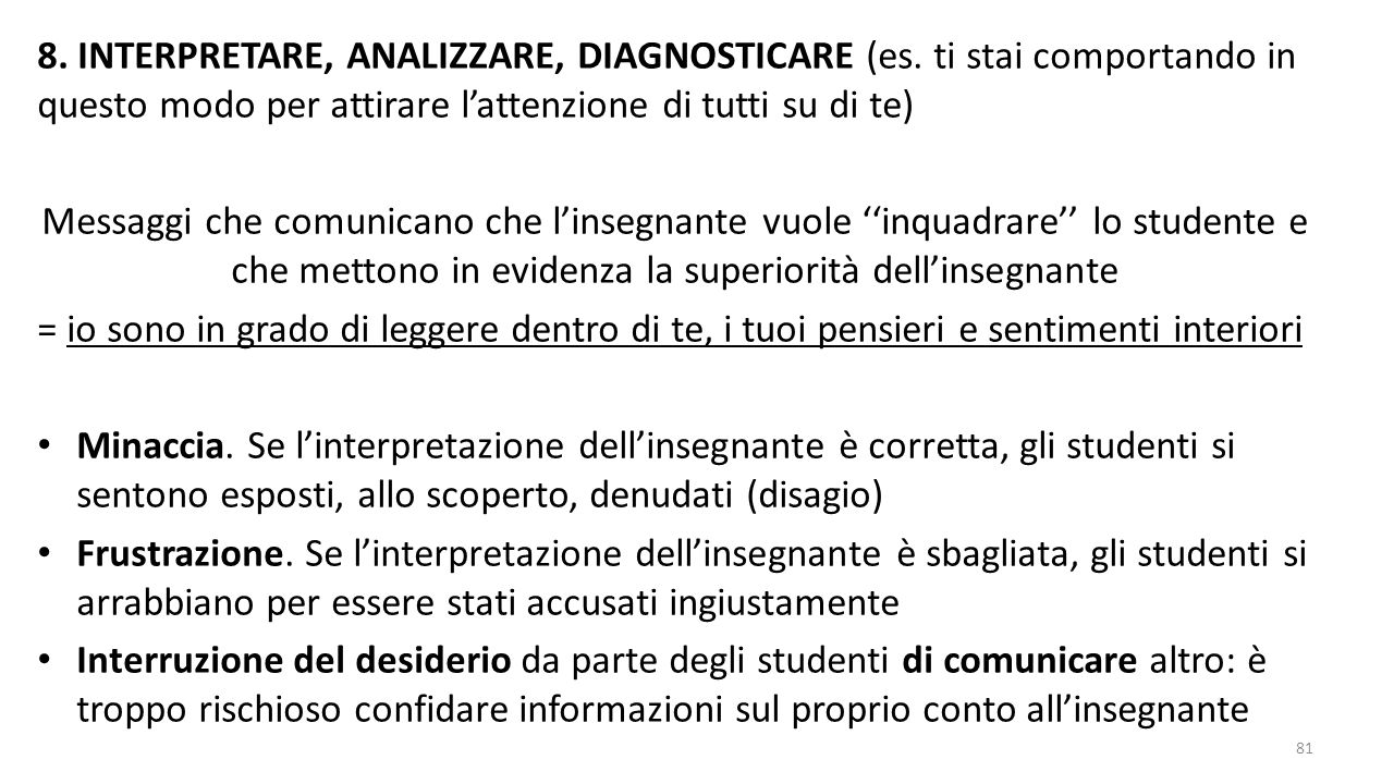 8.INTERPRETARE, ANALIZZARE, DIAGNOSTICARE (es.