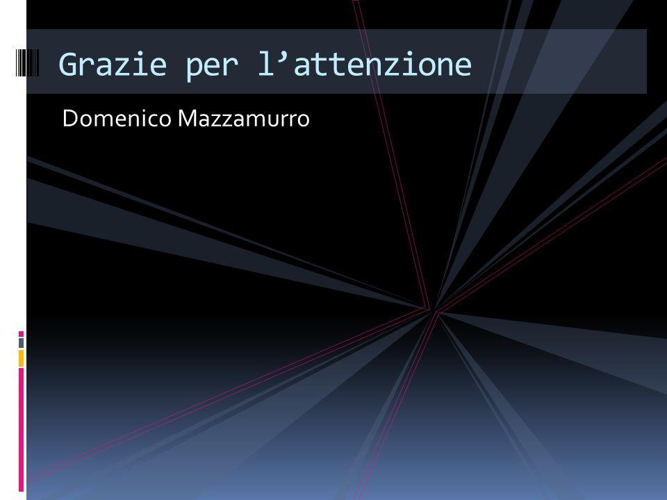 Domenico Mazzamurro Grazie per l'attenzione