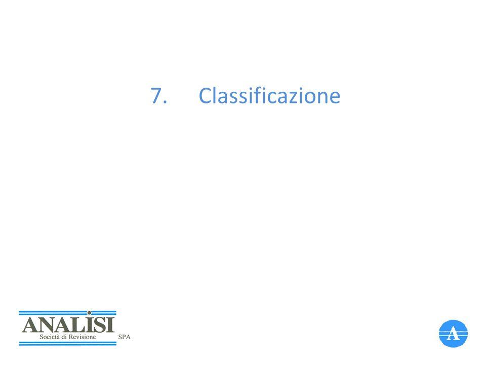 7.Classificazione