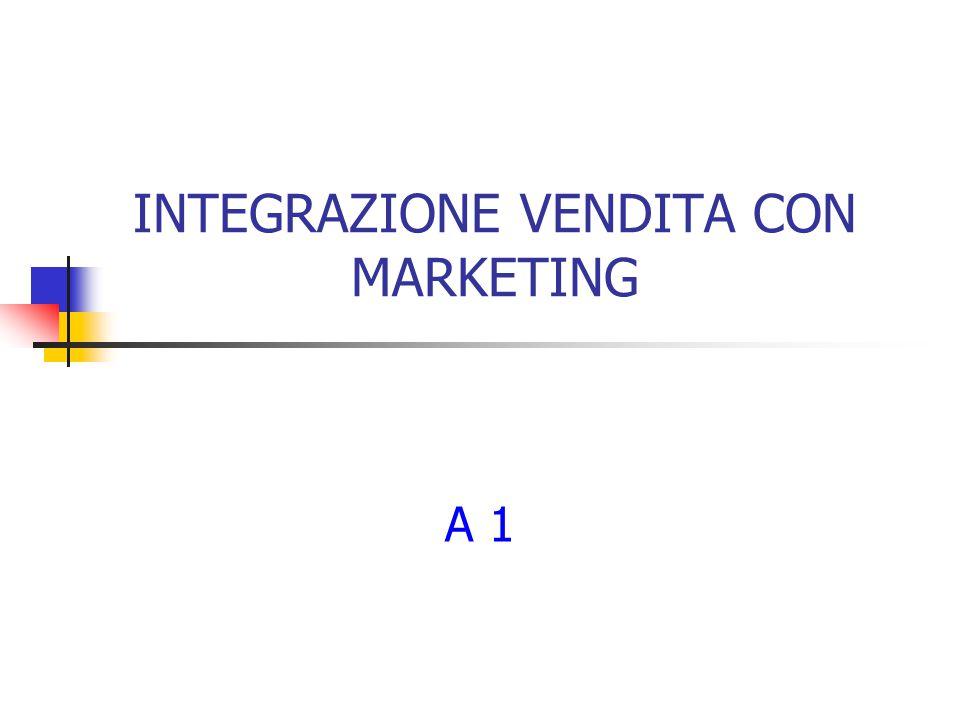 INTEGRAZIONE VENDITA CON MARKETING A 1