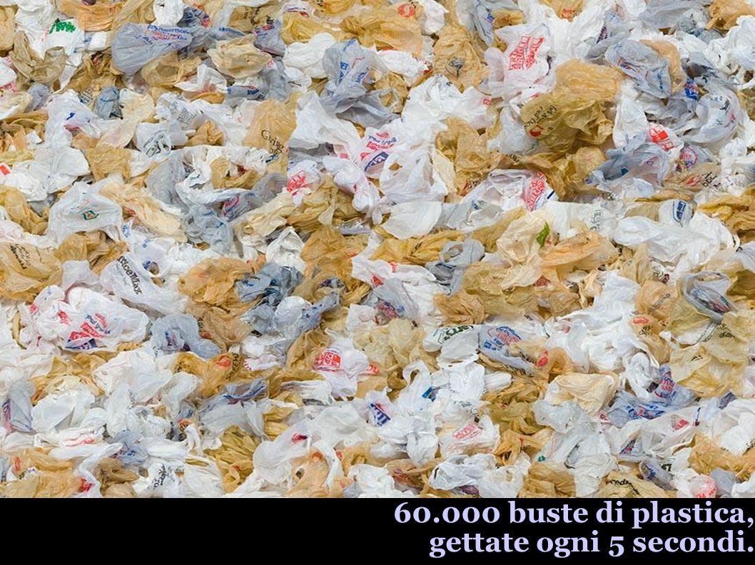 60.000 buste di plastica, gettate ogni 5 secondi.