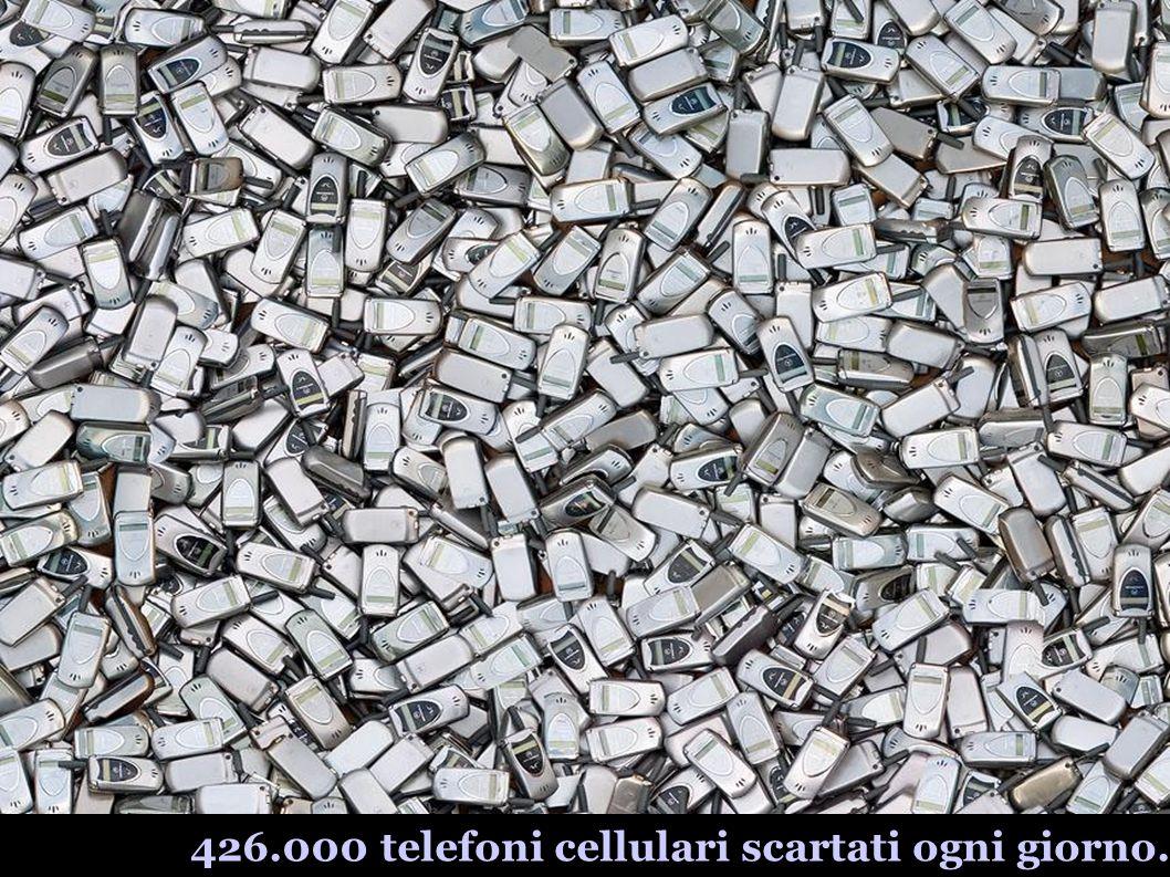 426.000 telefoni cellulari scartati ogni giorno.