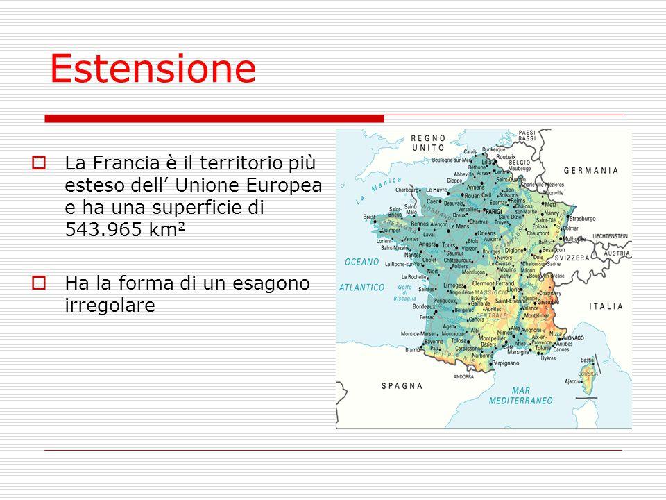 DENSITA'  I francesi sono circa 62 milioni  La densità demografica è di circa 144 ab/km²: è un valore molto basso per l' Europa occidentale è più basso di quello italiano che è di 190 ab/km²