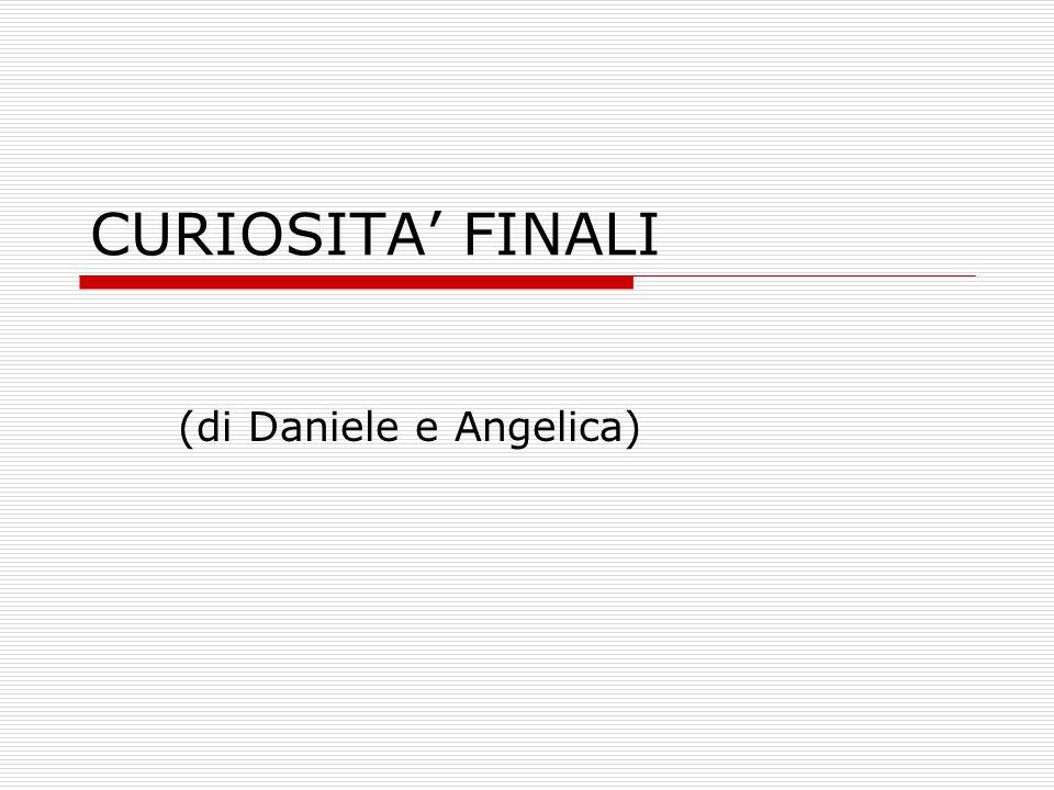 CURIOSITA' FINALI (di Daniele e Angelica)