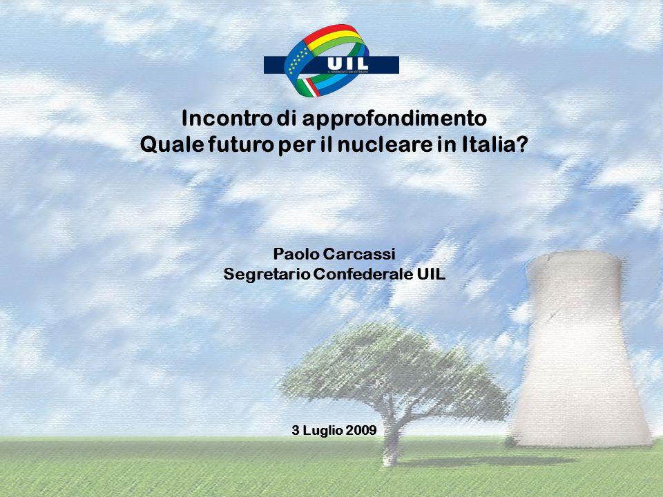 Incontro di approfondimento Quale futuro per il nucleare in Italia.
