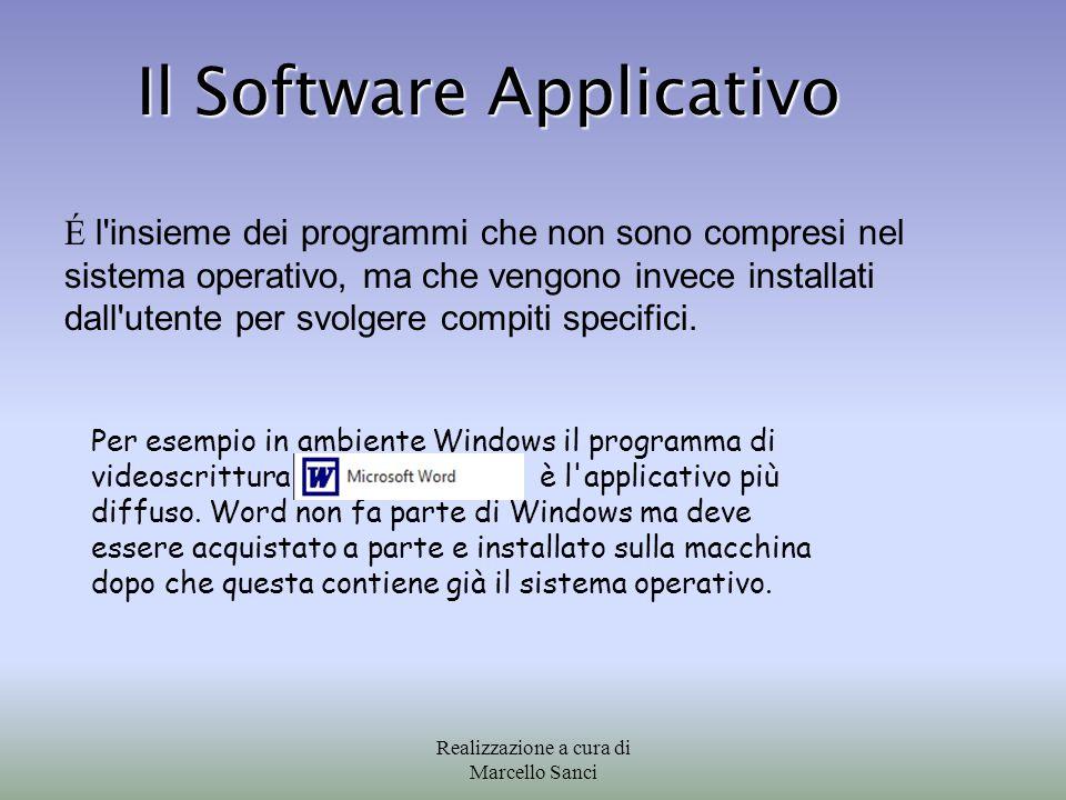 É l'insieme dei programmi che non sono compresi nel sistema operativo, ma che vengono invece installati dall'utente per svolgere compiti specifici. Il