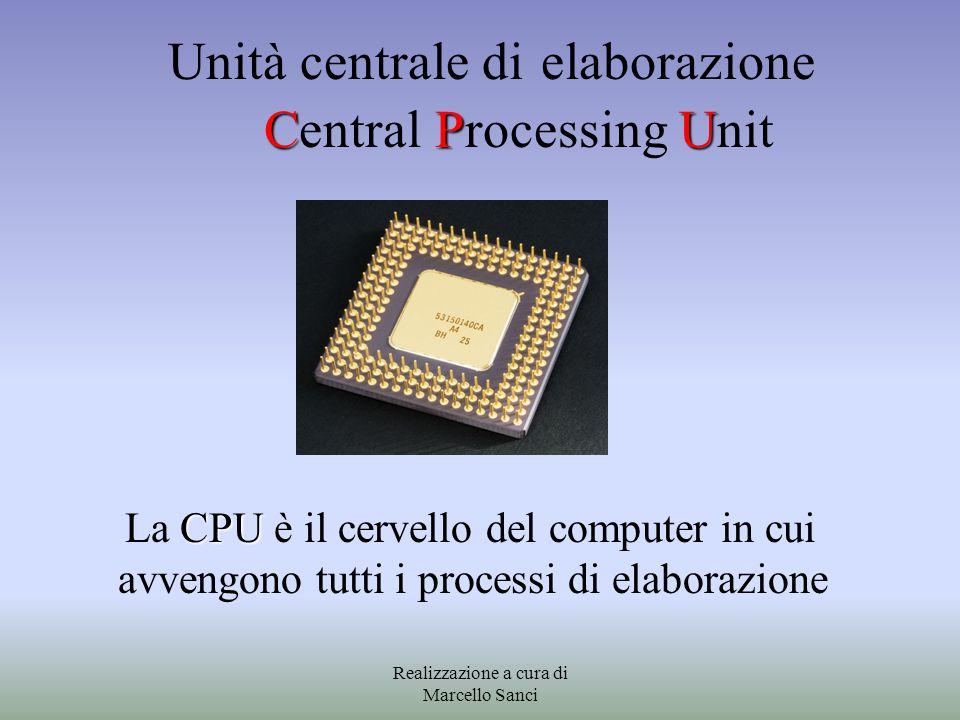 CPU Unità centrale di elaborazione Central Processing Unit CPU La CPU è il cervello del computer in cui avvengono tutti i processi di elaborazione Rea