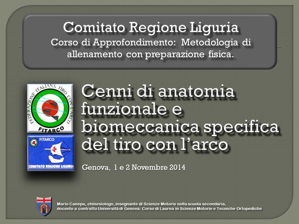 Comitato Regione Liguria Corso di Approfondimento: Metodologia di allenamento con preparazione fisica.