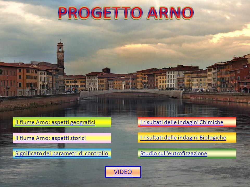 Il fiume Arno: aspetti geografici Il fiume Arno: aspetti storici Significato dei parametri di controllo I risultati delle indagini Chimiche I risultat