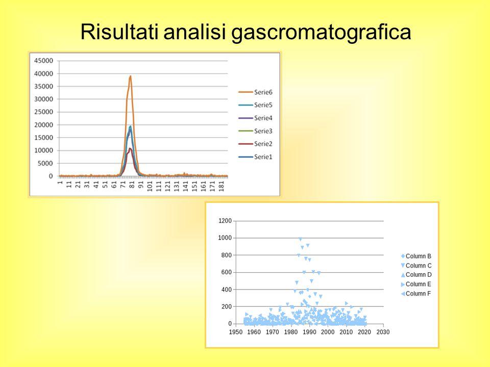 Risultati analisi gascromatografica