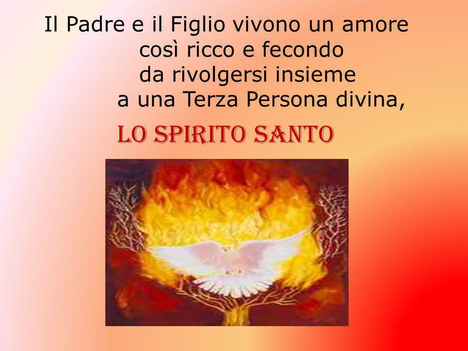 Lo Spirito Santo Il Padre e il Figlio vivono un amore così ricco e fecondo da rivolgersi insieme a una Terza Persona divina,