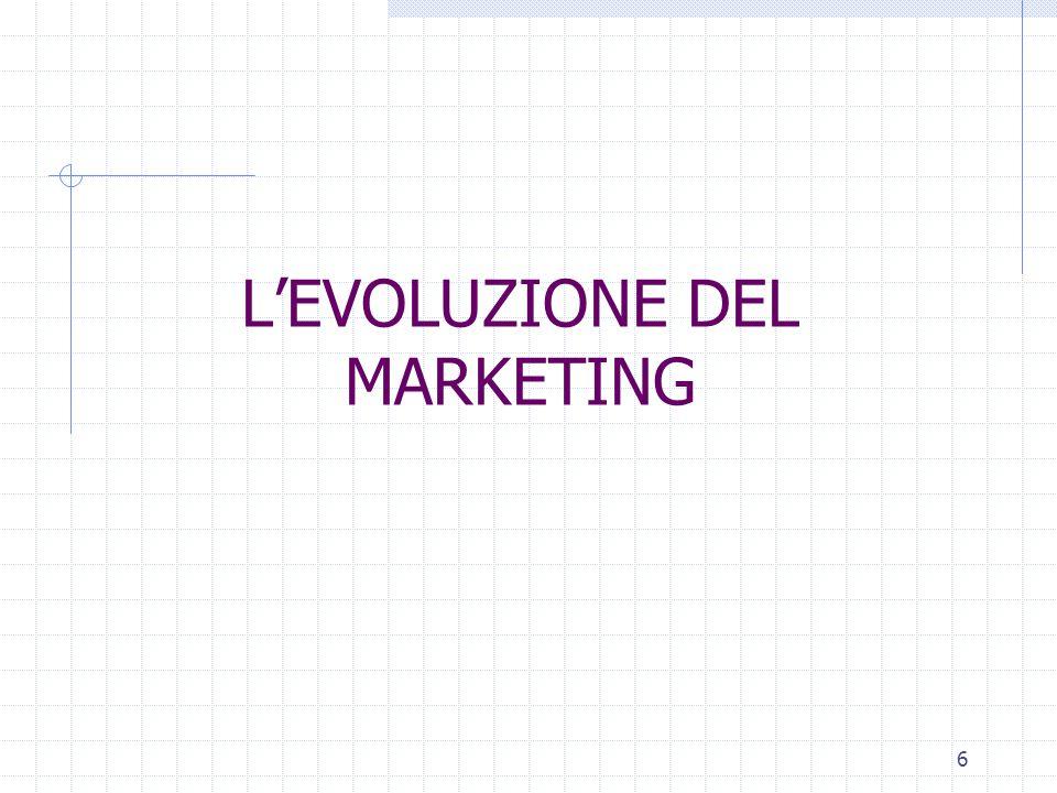 5 IL MKTG SECONDO P.KOTLER marketing: processo sociale e manageriale diretto a soddisfare bisogni ed esigenze attraverso processi di creazione e scamb