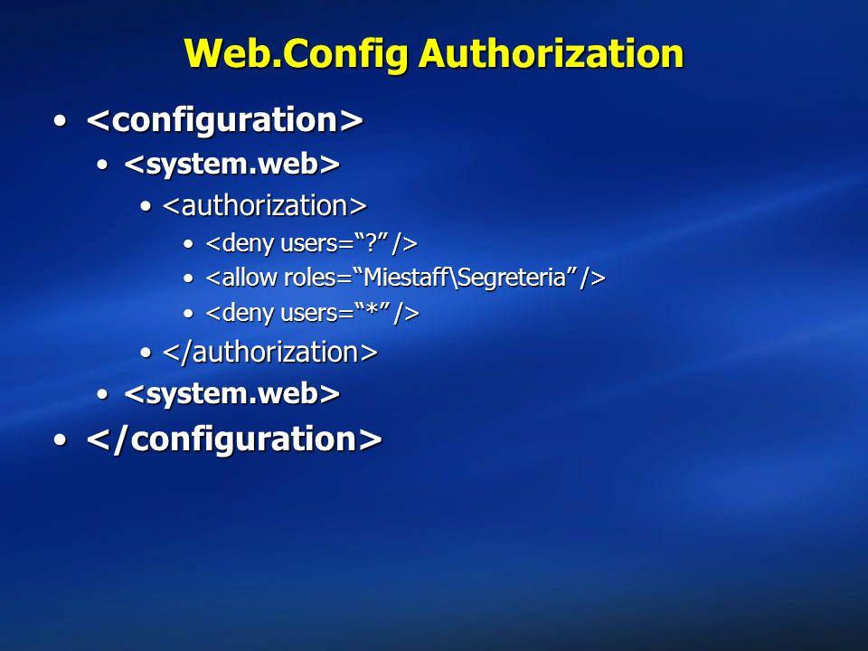 Web.Config Authorization