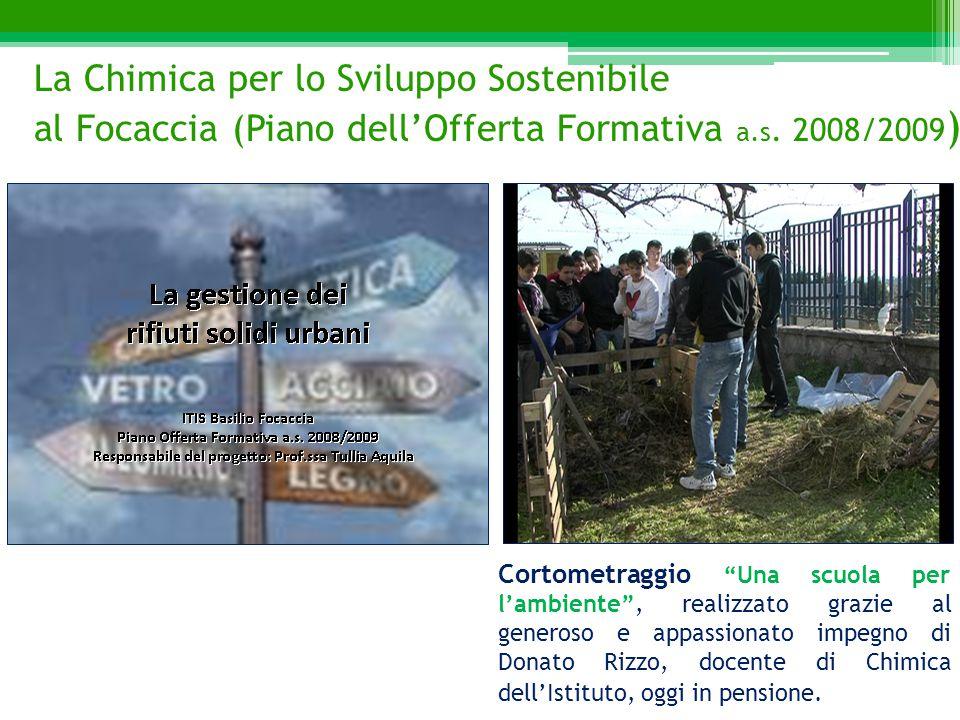 """Cortometraggio """"Una scuola per l'ambiente"""", realizzato grazie al generoso e appassionato impegno di Donato Rizzo, docente di Chimica dell'Istituto, og"""