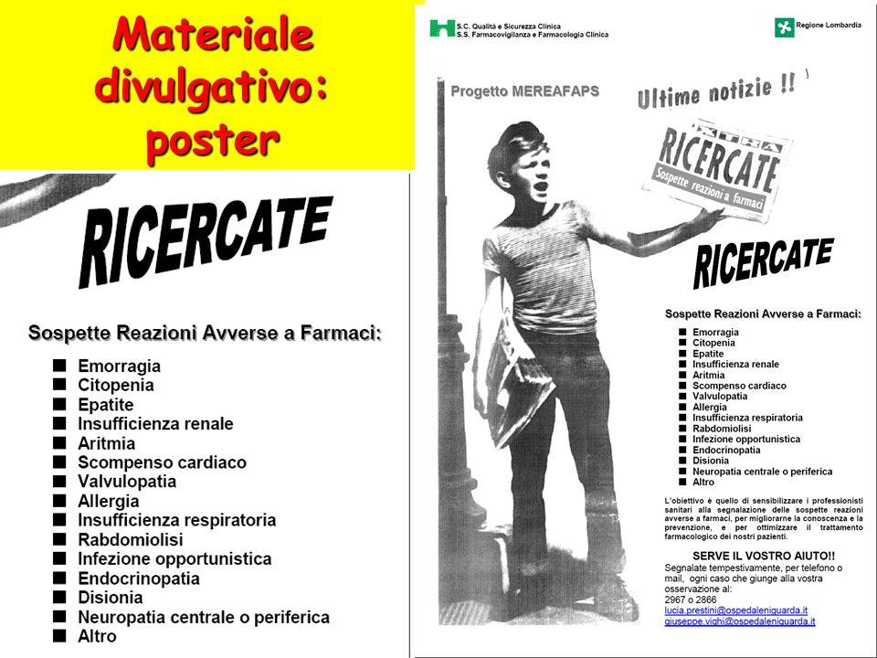 Materiale divulgativo: poster