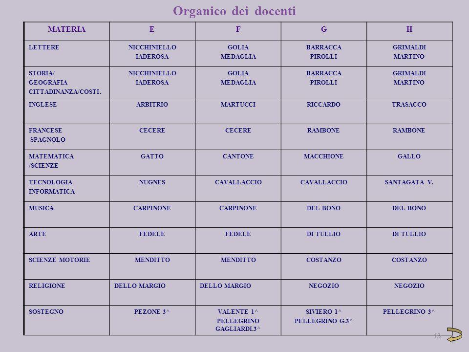 13 MATERIAEFGH LETTERENICCHINIELLO IADEROSA GOLIA MEDAGLIA BARRACCA PIROLLI GRIMALDI MARTINO STORIA/ GEOGRAFIA CITTADINANZA/COSTI. NICCHINIELLO IADERO