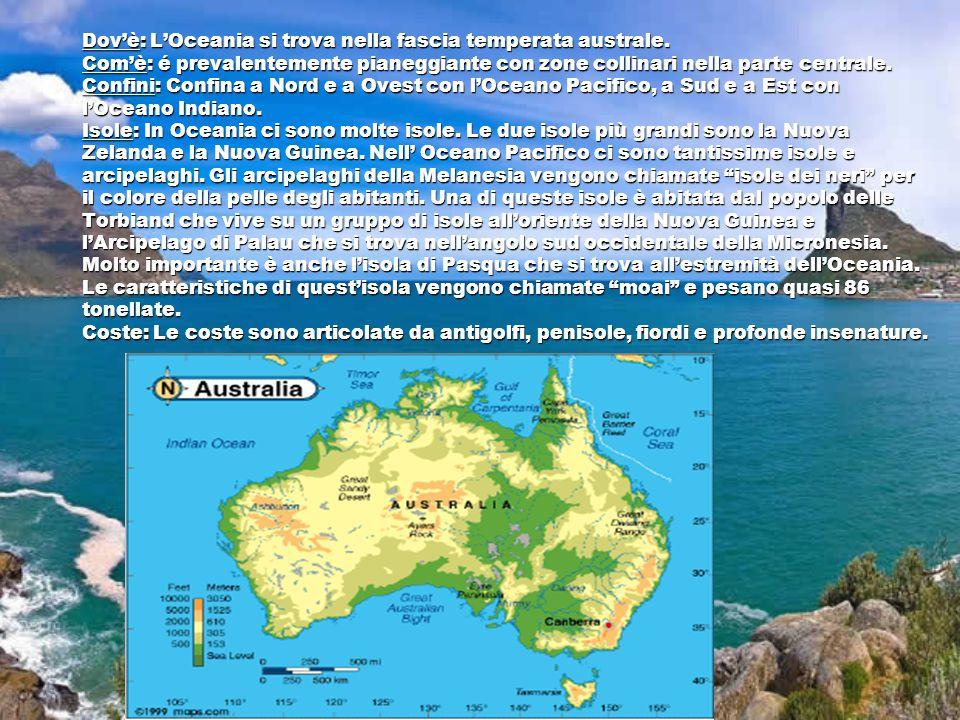 Dov'è: L'Oceania si trova nella fascia temperata australe.
