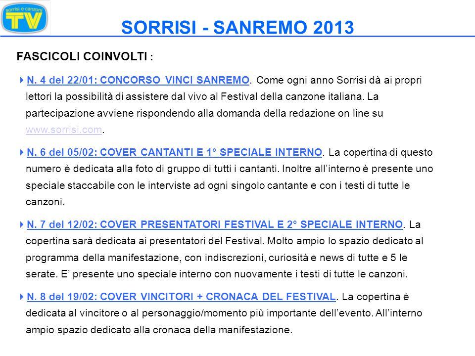 LE COPERTINE 2012 Sorrisi n°6/2012 Sorrisi n°7/2012 Sorrisi n°8/2012