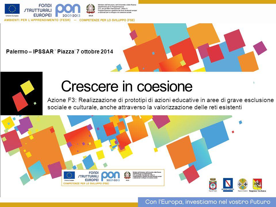 STATO DI AVANZAMENTO DELLE ATTIVITÀ SU GPU AL 3 OTTOBRE 2014 Nella Regione Siciliana sono stati autorizzati 70 Progetti F3, di cui 1 revocato.