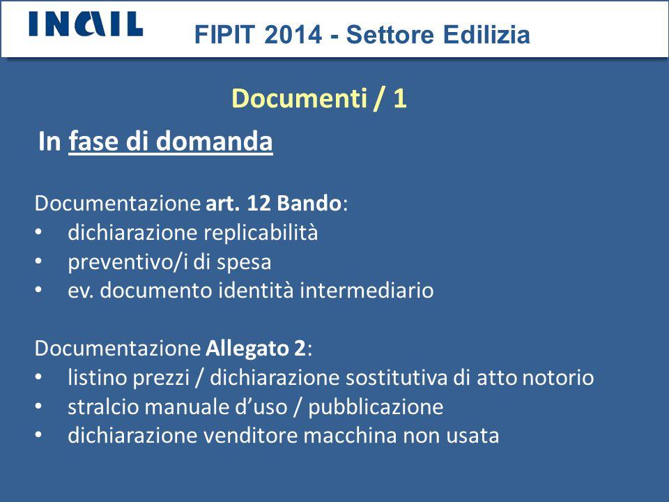 FIPIT 2014 - Settore Edilizia Documentazione art.