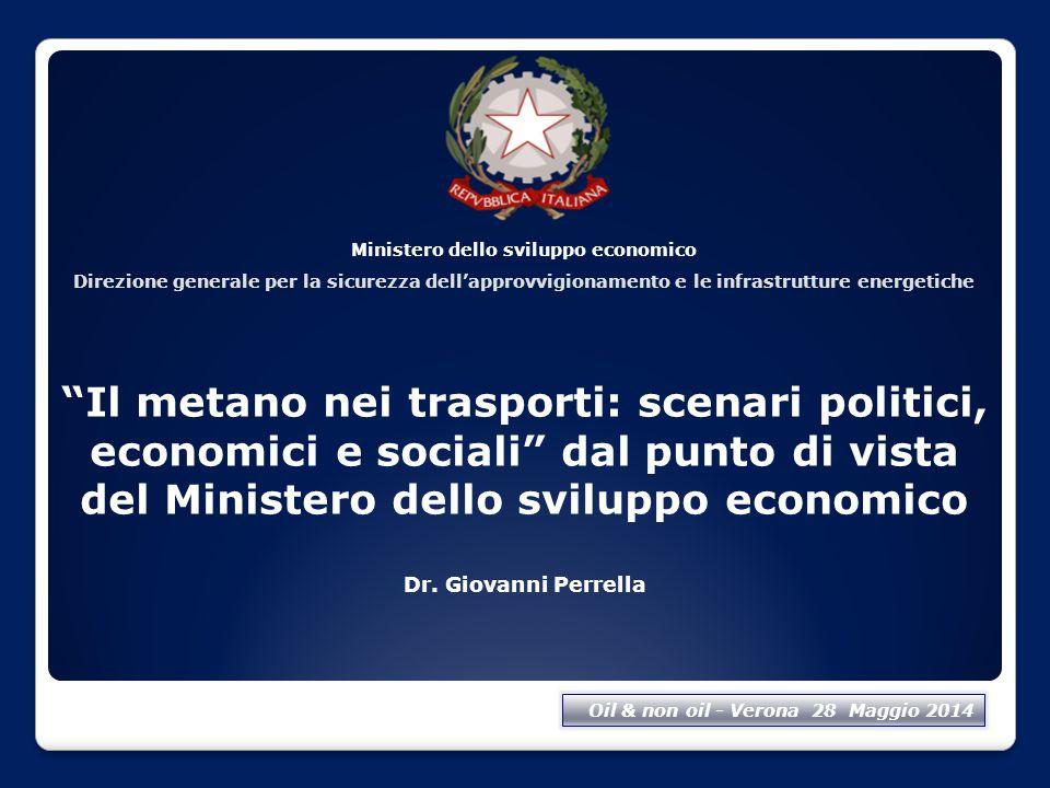 """Ministero dello sviluppo economico Direzione generale per la sicurezza dell'approvvigionamento e le infrastrutture energetiche """"Il metano nei trasport"""