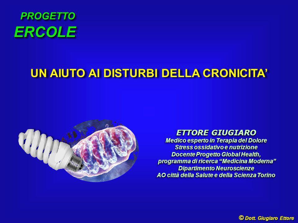  Dott. Ettore Giugiaro RADICALI LIBERI PROCESSI OSSIDORIDUTTIVI STRESS OSSIDATIVO LAVORO CELLULARE