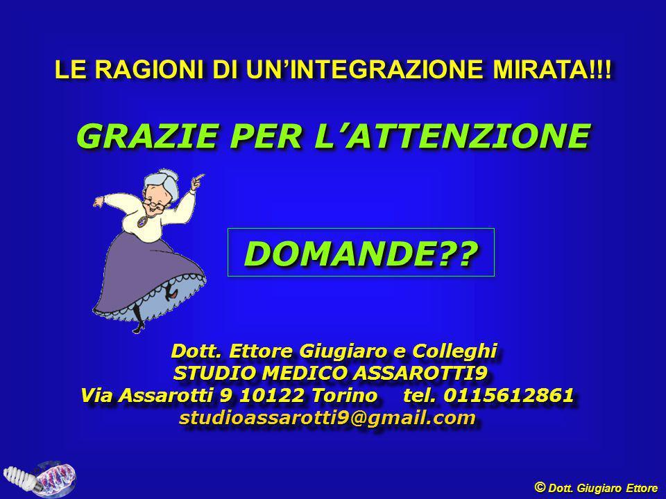 GRAZIE PER L'ATTENZIONE DOMANDE??DOMANDE?.Dott. Ettore Giugiaro e Colleghi Dott.