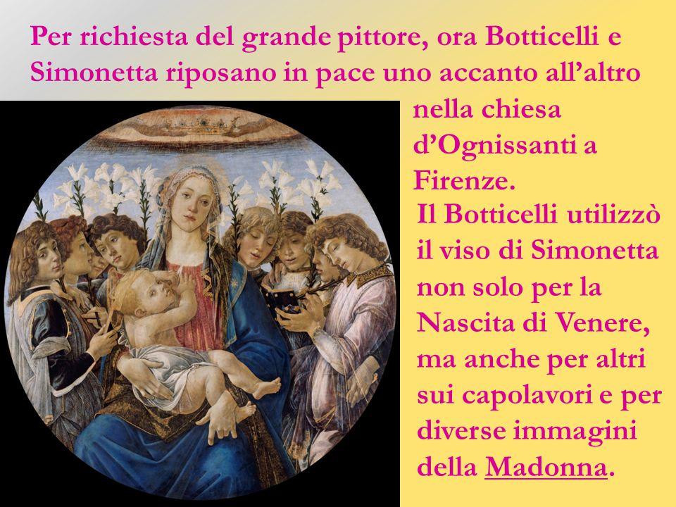 In questo ritratto al collo della giovane, Botticelli ha dipinto un collier con un pendente famoso: il