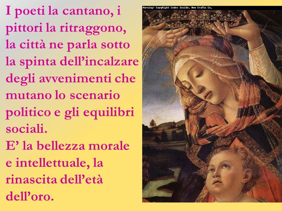 Simonetta diventa con Botticelli l'emblema della bellezza rinascimentale per eccellenza. Marilyn rappresenta, attraverso la mano di Warhol, il volto d