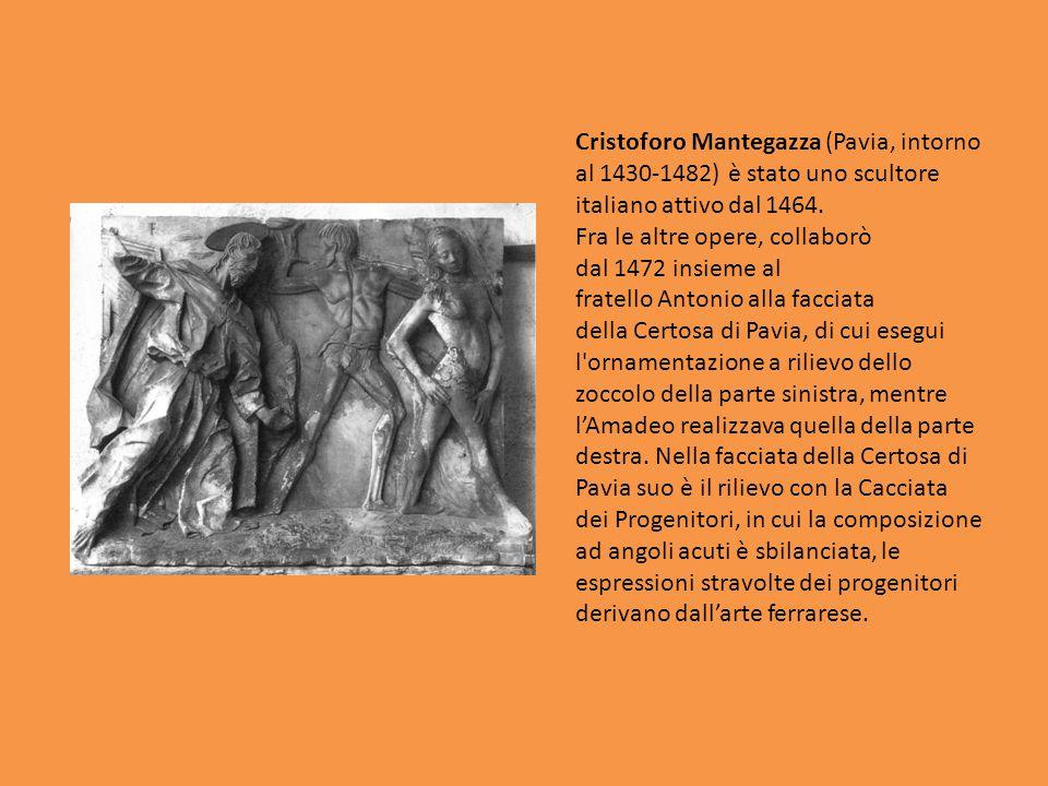 Cristoforo Mantegazza (Pavia, intorno al 1430-1482) è stato uno scultore italiano attivo dal 1464. Fra le altre opere, collaborò dal 1472 insieme al f