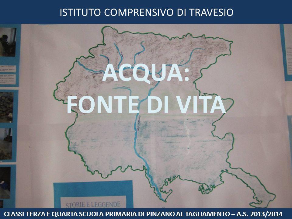 ISTITUTO COMPRENSIVO DI TRAVESIO ACQUA: FONTE DI VITA CLASSI TERZA E QUARTA SCUOLA PRIMARIA DI PINZANO AL TAGLIAMENTO – A.S. 2013/2014