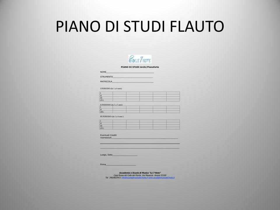 PIANO DI STUDI FLAUTO