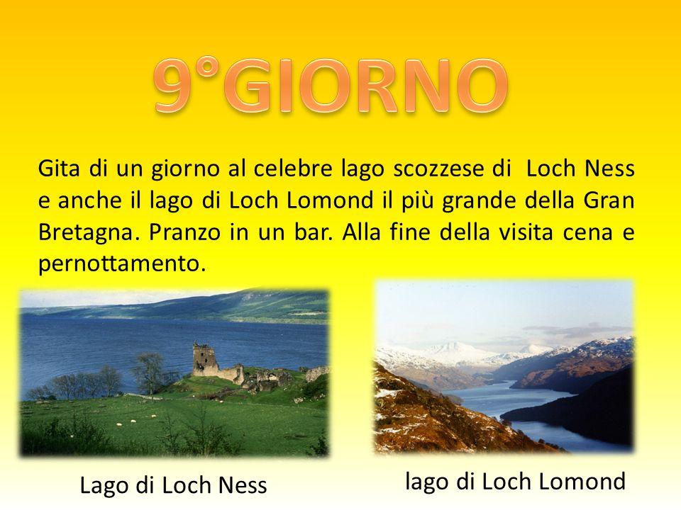 Gita di un giorno al celebre lago scozzese di Loch Ness e anche il lago di Loch Lomond il più grande della Gran Bretagna.