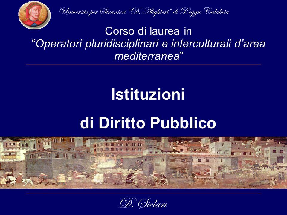 Istituzioni di Diritto Pubblico D.