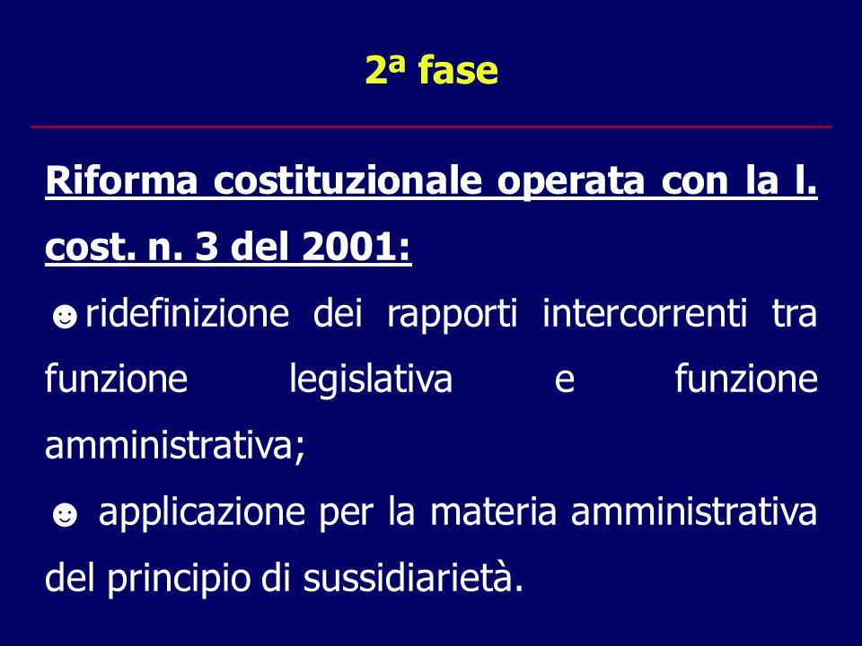 2ª fase Riforma costituzionale operata con la l. cost.