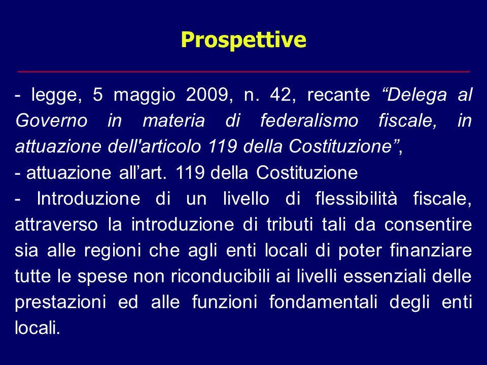 Prospettive - legge, 5 maggio 2009, n.