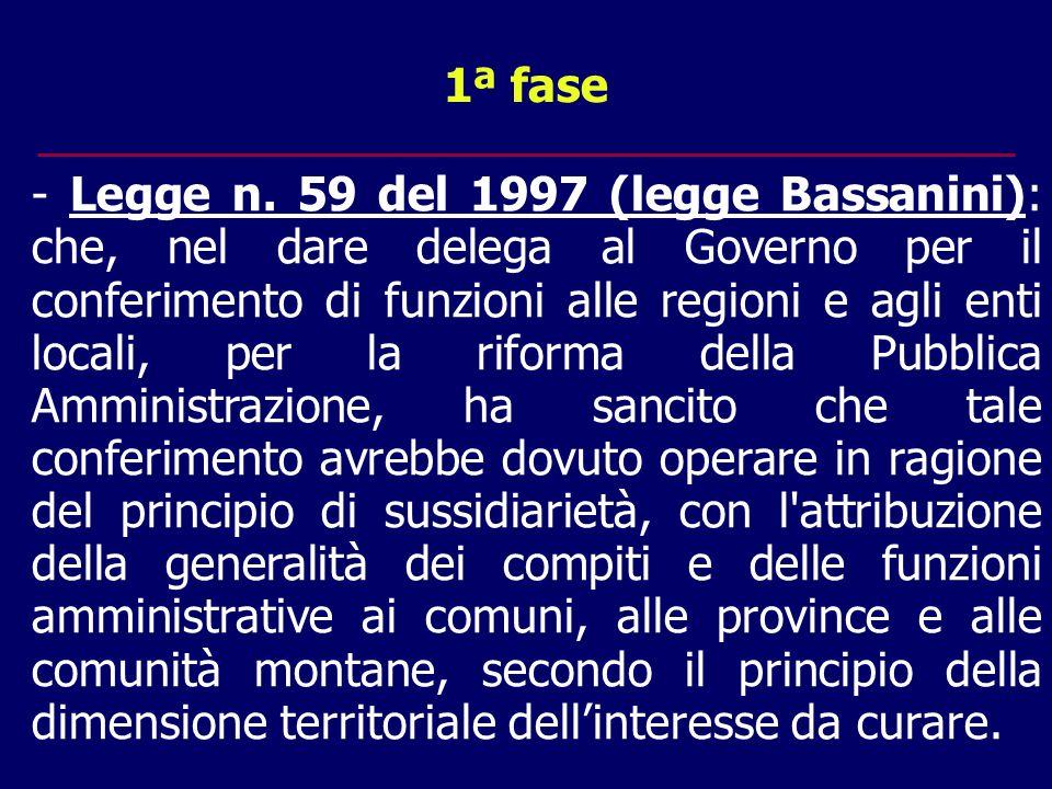 1ª fase - Legge n.